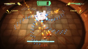 The boss battles will try each android's strengths and weaknesses, and test those rusty old bullet hell skills too.